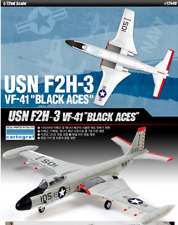 ACADEMY #12548 1/72 Plastic Model Kit USN F2H-3 VF-41 Black Aces