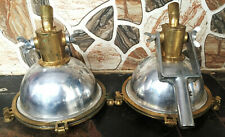Nautical Aluminium & Brass Smooth Cargo Pendant Hanging Light – Small Lot Of 2