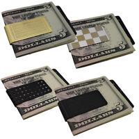 Mens Money Chrome Silver Clip Stainless Steel Slim Wallet Card Cash Holder Gift