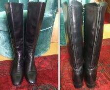 RUSSELL & BROMLEY LOW RIDE CLASSIC NAPPA LEATHER BOOTS SIZE 38