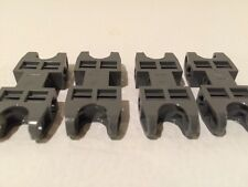 4 LEGO Bionicle Technic - 2x5 Connectors - Dark Gray