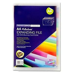 A4 13 Pocket Clear Expanding File
