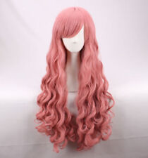 Zero no Tsukaima Louise 95CM Long Pink Wave curly Cosplay Wig+a WIG CAP