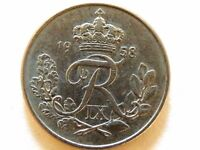 1958 Denmark Ten Ore Coin