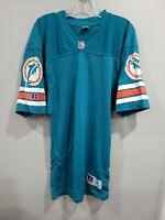Rare VTG 90s Russell NFL Miami Dolphins Blank Aqua Jersey Mens 36 S Marino Tua