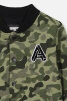 Cotton On Kids Boys Flynn Bomber Jacket Jackets & Knitwear  In  Green