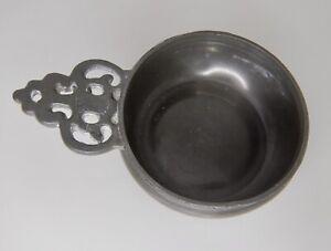 Antique Gebelein Boston Pewter Porringer -  83999