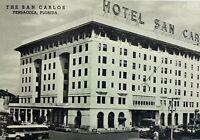 Old Linen Litho Photo Finish Postcard Hotel San Carlos Picture Pensacola Florida