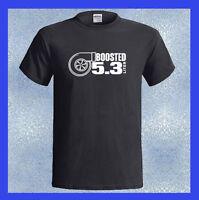 BOOSTED 5.3 Logo Turbo LSX LS1 Swap Truck Engine Men's T-Shirt S M L XL 2XL 3XL
