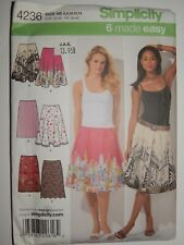 Simplicity Sewing Pattern No.1782 Sizes 6-14 Ladies Skirt