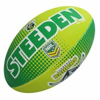 42502 CANBERRA RAIDERS NRL LOGO FULL SIZE 5 LARGE FOOTBALL FOOT BALL FOOTY
