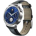 Huawei W1 Stainless Steel Classic Smartwatch with Leather Strap - iOS & Android