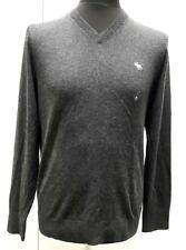 Nueva Abercrombie & Fitch icono Cuello en V suéter, Gris-M