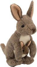 Plüschtier Känguru mit Baby Kuscheltier Cuddlekins, Stofftier braun ca.20cm
