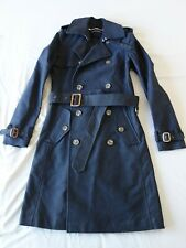 ralph lauren womens classic double breasted trench coat jacket heavy cotton