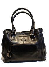 TOD'S Bag Black Leather Shoulder Tote Handbag