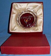 Crystal Glass Lidded Engagement Ring Presentation Box