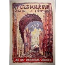 1933 Chicago Worlds Fair Century Art Poster