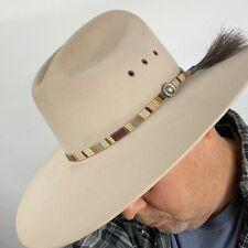 Vintage Custom Beige Stetson 4X Beaver Beige Tan Cowboy Hat Size 7