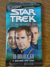 3 STAR TREK CCG FACTORY SEALED BOOSTER PACKS 2ND EDITION TO BOLDLY GO