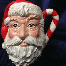 ROYAL DOULTON D6793 SANTA CLAUS TOBY JUG 40 OZ CANDY CANE HANDLE CHRISTMAS