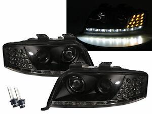 A6 A6/S6 C5 4B 97-01 Projector R8Look HID Headlight W/ Motor Black for AUDI RHD