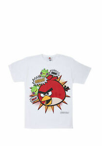 BNWT, T-Shirt, Angry Birds, White, Multi-colour, Size 11 to 12 yrs, 100% Cotton