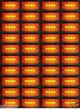 40x 24v Amber Front Side Marker 4 LEDs Outline Lights Trailer Van Truck Chassis