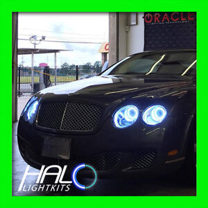 ORACLE 2004-2011 Bentley Continental Flying Spur WHITE PLASMA Light Halo Rings