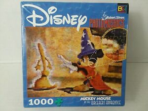 "Disney Mickey Mouse Photomosaics 1000 Piece Jigsaw Puzzle 27"" x 20"" challenging"