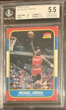 1986 Fleer Basketball Michael Jordan ROOKIE RC #57 BGS 5.5 EX+ w/ 8.5 Centering