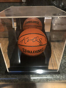 Kobe Bryant Autographed Mini Basketball With COA And Decorative Case