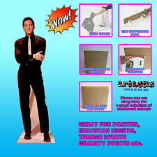 ELVIS PRESLEY IN BLACK SUIT AND WHITE TIE LIFESIZE CARDBOARD CUTOUT STANDUP
