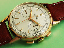RARE OMEGA 18K PINK SOLID GOLD CAL 320 COLUMN WHEEL CHRONOGRAPH. SPLENDID !