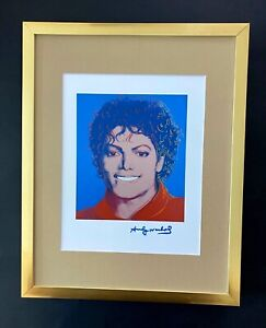 ANDY WARHOL GORGEOUS 1984 SIGNED MICHAEL JACKSON PRINT MATTED TO BE FRAMED 11X14