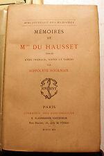 MME DU HAUSSET/FEMME DE CHAMBRE DE LA POMPADOUR/ED LIB DES BIBLIOPHILES/1891