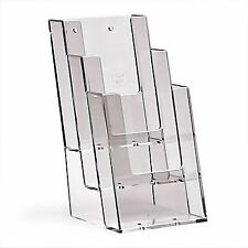 1/3 A4 DL (100mm W x 210mm H) 3 Tier Leaflet Holder Display Stand - BPS3C104 x 2
