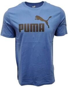 Puma T Shirt Mens 4XL Authentic Blue Black Number One Logo Short Sleeve Crew Tee