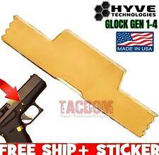 HYVE Technologies f GLOCK GEN 1 2 3 4 Gold TiN S/S EXTENDED Slide Lock Take Down