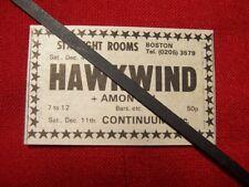 HAWKWIND ORIGINAL 1971 VINTAGE GIG CONCERT ADVERT BOSTON