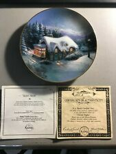 Thomas Kincade's Yuletide Memories Silent Night Collector Plate