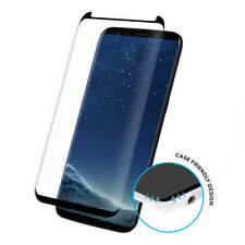 For Samsung Galaxy S8 Plus Full Curved 3D Tempered Glass Screen Protector -Black