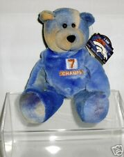 "JOHN ELWAY #7 CHAMPS BRONCOS PRO BEARS 9"" Teddy Bear MWT in Acrylic Display Box"