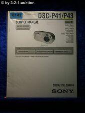 Sony Service Manual DSC P41 /P43 Level 1 Digital Still Camera (#6143)