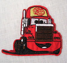 ÉCUSSON PATCH BRODE thermocoll​ant CAMION CARS Rouge **9 x 8 cm** Enfant