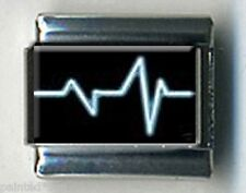 Ekg medical test heart nurse tech doctor 9mm Italian Photo Charms for bracelets