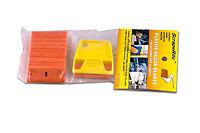 Double Edge Orange ScrapeRite Plastic Razor Blades With Holder  ( 25 Pack )