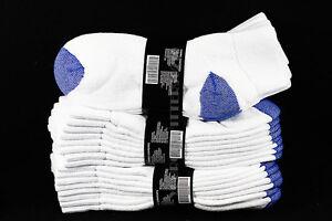 9-11 10-13  Athletic Ankle Socks Anklet Cotton Blue Heel & Toe Gym Men Women New