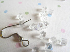 100 Clear Plastic Rubber French Hook Earring Backs