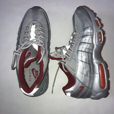 Nike Silver Nike Air Max 95 Athletic Shoes for Men for Sale